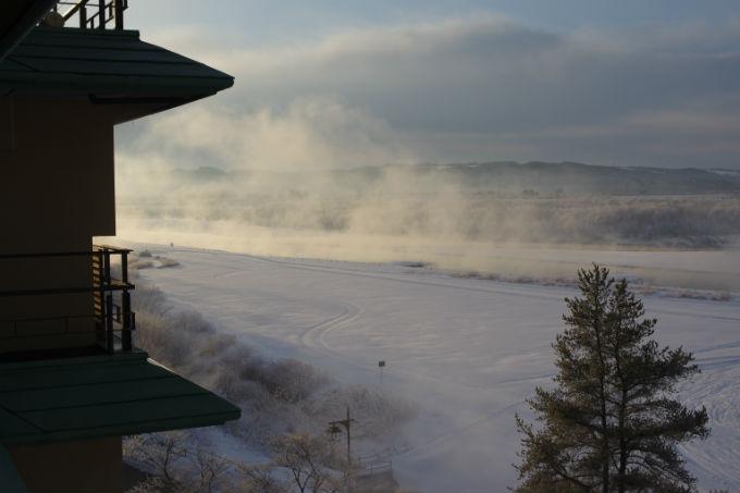 豊州亭 景色 冬