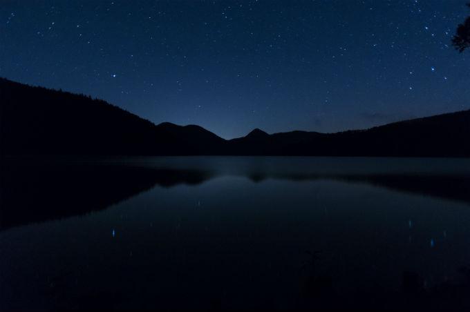 然別湖 星空