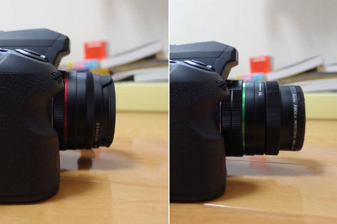 PENTAX 15mm Limited 大きさ比較