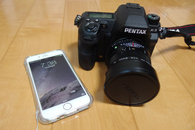 iPhone6 PENTAX K-3 比較