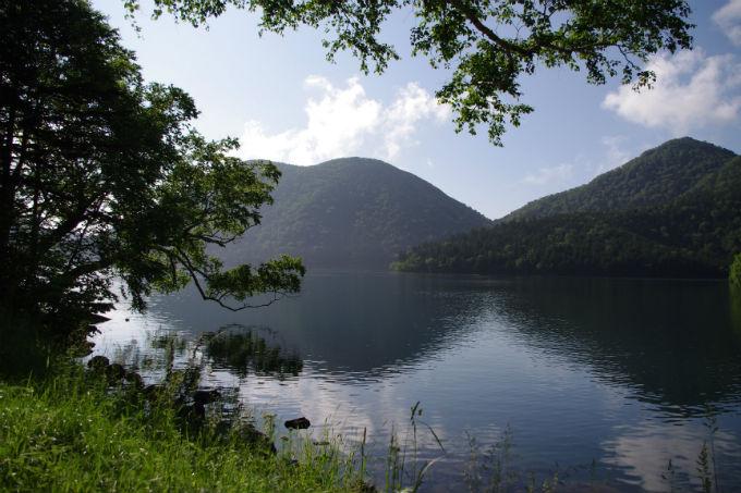 夏の然別湖