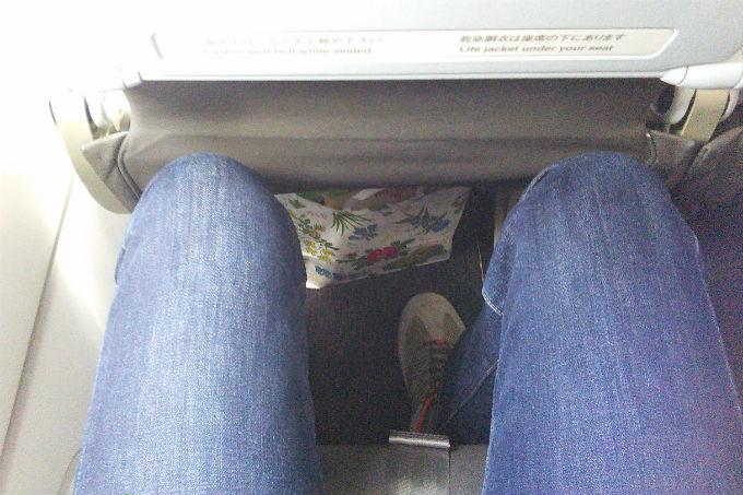 Jetstar 座席広さ